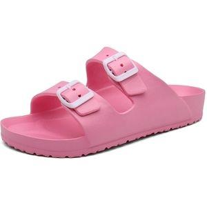Double Buckle EVA Foam Sandals/Slides